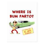 ¿Dónde es el vago Farto? Tarjetas Postales