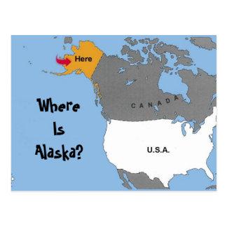 ¿Dónde está Alaska? Tarjeta Postal