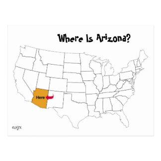 ¿Dónde está Arizona? Tarjeta Postal