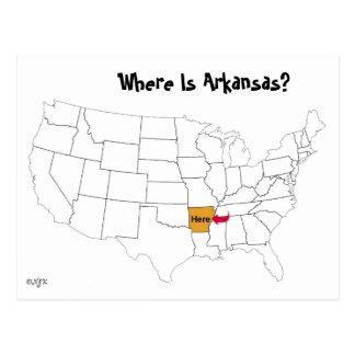 ¿Dónde está Arkansas? Tarjetas Postales