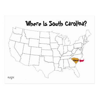 ¿Dónde está Carolina del Sur? Postal