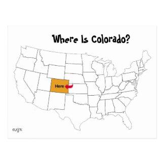 ¿Dónde está Colorado? Tarjeta Postal