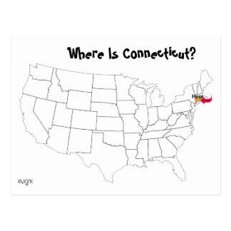 ¿Dónde está Connecticut? Tarjetas Postales