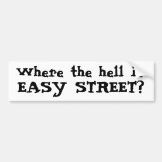 ¿Dónde está, EASY STREET? Pegatina Para Auto