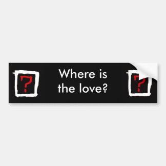 Donde está el amor etiqueta de parachoque