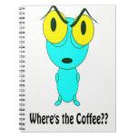 Donde está el café, el dibujo animado extranjero libro de apuntes con espiral