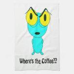 Donde está el café, el dibujo animado extranjero toallas