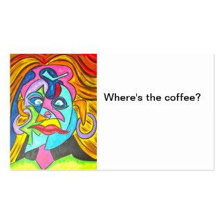 ¿Dónde está el café? - Tarjetas de visita del arte