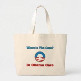 ¿Dónde está el cuidado? En el cuidado de Obama Bolsa Lienzo