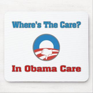 ¿Dónde está el cuidado? En el cuidado de Obama Alfombrilla De Raton