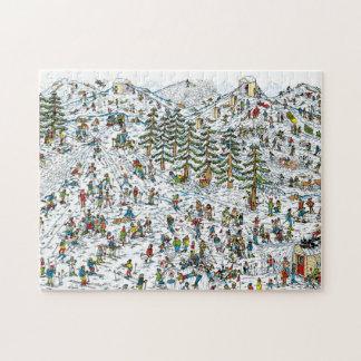 Donde está el esquí de Waldo se inclina Rompecabeza Con Fotos