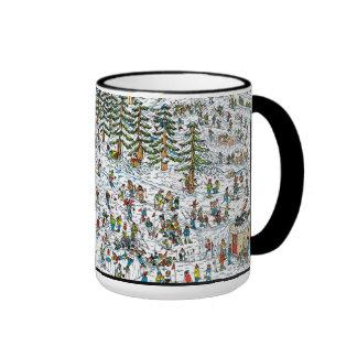 Donde está el esquí de Waldo se inclina Taza A Dos Colores