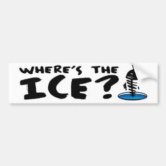 ¿Dónde está el hielo? Pegatina Para Auto