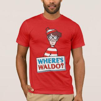 Donde está el logotipo de Waldo Playera