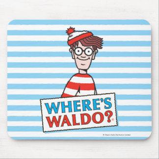 Donde está el logotipo de Waldo Alfombrilla De Ratón