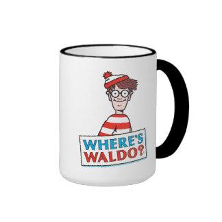 Donde está el logotipo de Waldo Taza De Dos Colores