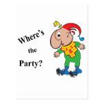 Donde está el Party.ai Tarjeta Postal