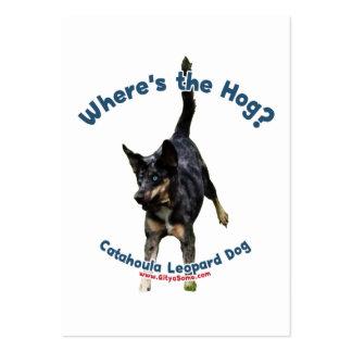 Donde está el perro del cerdo tarjeta de negocio