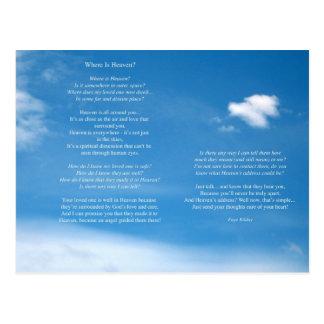 Donde está el poema del cielo tarjetas postales