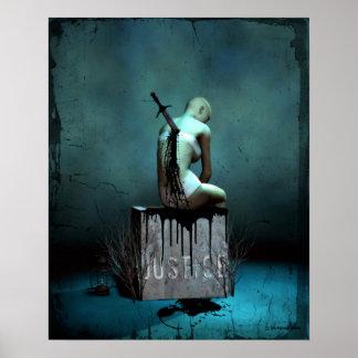 Donde está el poster gótico del arte de la justici