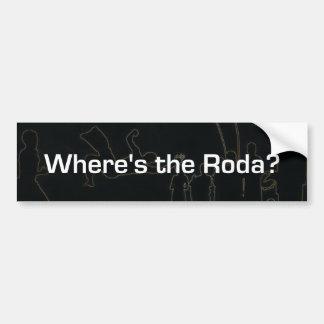¿Dónde está el Roda? Pegatina Para Auto