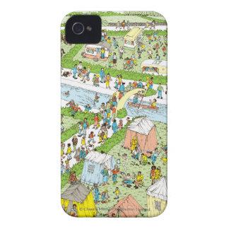 Donde está el sitio para acampar de Waldo Case-Mate iPhone 4 Funda