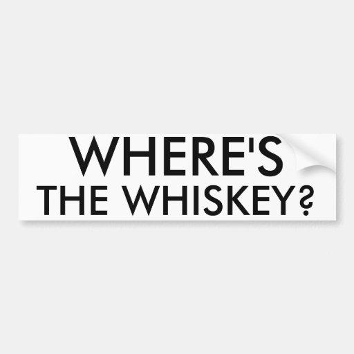 Donde está el whisky pegatina para auto