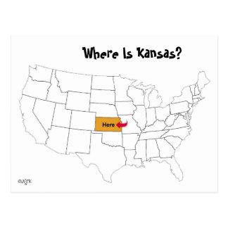 ¿Dónde está Kansas? Tarjeta Postal