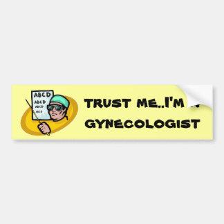 ¿Dónde está la confianza? Etiqueta De Parachoque