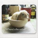 ¿Dónde está la ensalada? Mousepads