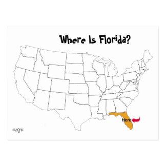 ¿Dónde está la Florida? Tarjetas Postales