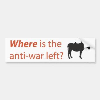 ¿Dónde está la izquierda pacifista? Pegatina para  Etiqueta De Parachoque