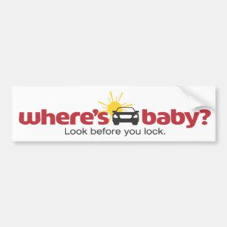 Donde está la mirada del bebé antes de que usted c etiqueta de parachoque