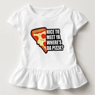 Donde está la pizza playera de bebé
