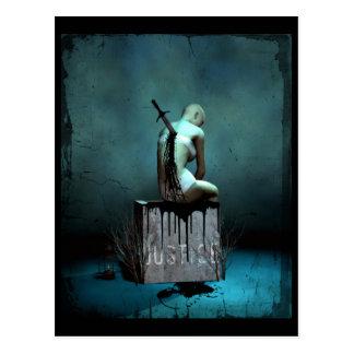 Donde está la postal gótica del arte de la justici