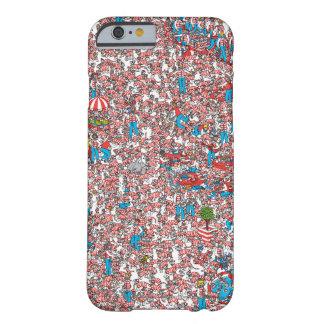 Donde está la tierra de Waldo de tejidos Funda De iPhone 6 Barely There