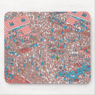 Donde está la tierra de Waldo de tejidos Mousepad