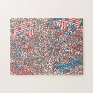 Donde está la tierra de Waldo de tejidos Puzzle