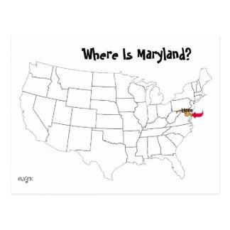 ¿Dónde está Maryland? Tarjeta Postal