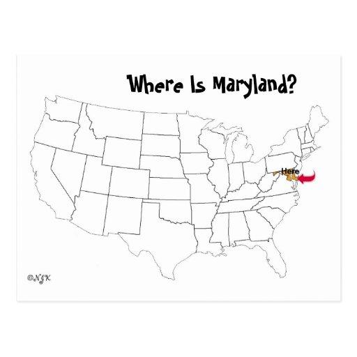 ¿Dónde está Maryland? Postal