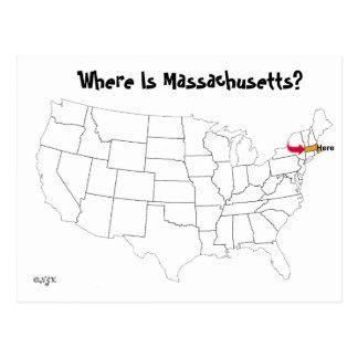 ¿Dónde está Massachusetts? Tarjetas Postales
