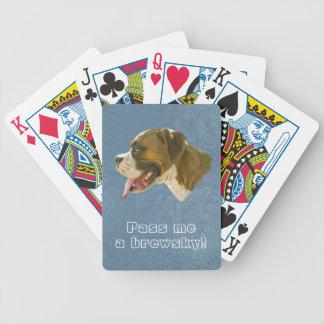 ¿Dónde está mi Brewsky? Naipes del perro de la Baraja Cartas De Poker