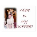 ¿Dónde está mi café? Postal