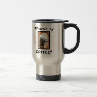 ¿Dónde está mi café? taza