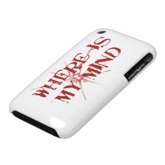 Donde está mi mente - letras sucias rojas de funda para iPhone 3 de Case-Mate