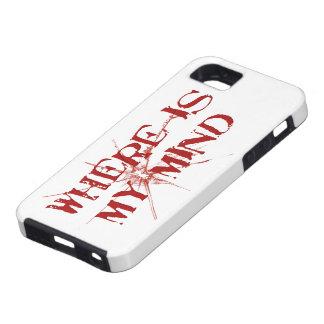 Donde está mi mente - letras sucias rojas de funda para iPhone SE/5/5s