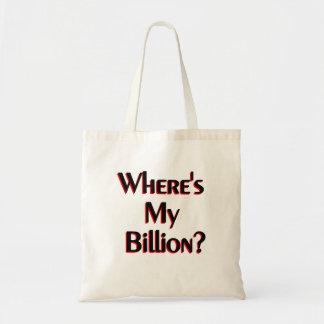 ¿Dónde está mi mil millones? Bolsa Tela Barata