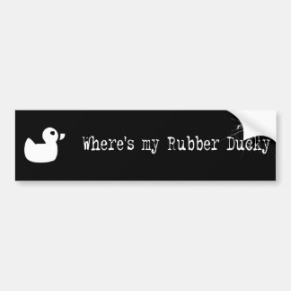 Donde está mi negro ducky de goma del pegatina del pegatina de parachoque