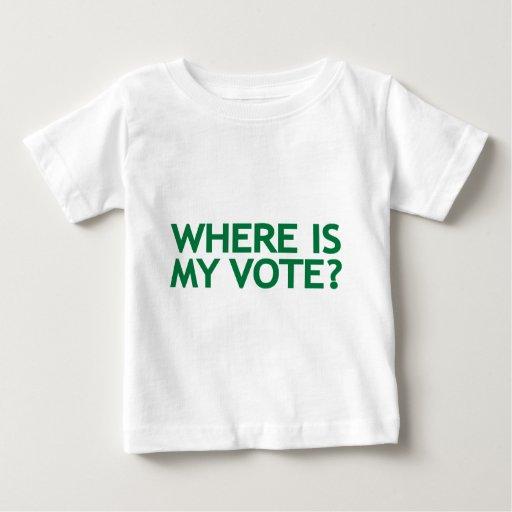 donde está mi voto (la elección de Irán) Playera De Bebé