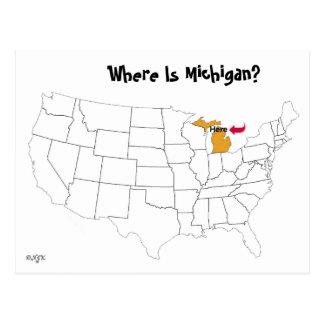 ¿Dónde está Michigan? Tarjetas Postales